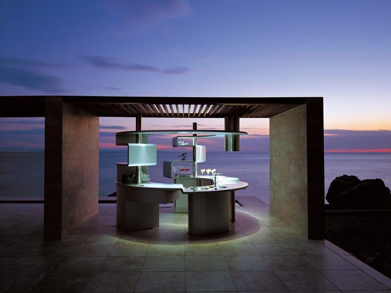 Acropolis by pininfarina design for Isola cucina circolare