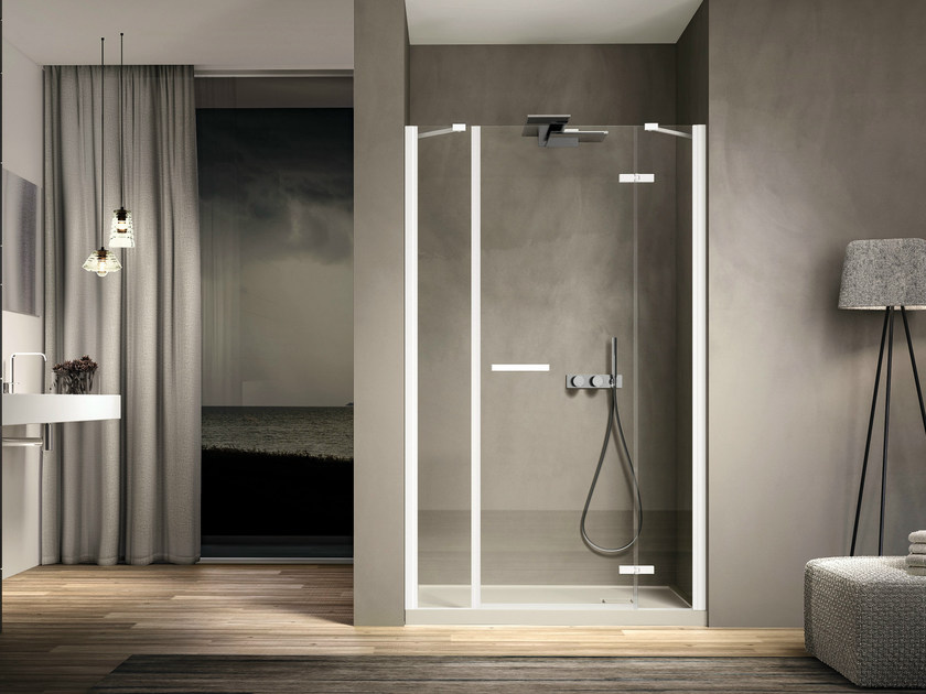 Niche rectangular glass shower cabin SMART 02 - IdeaGroup