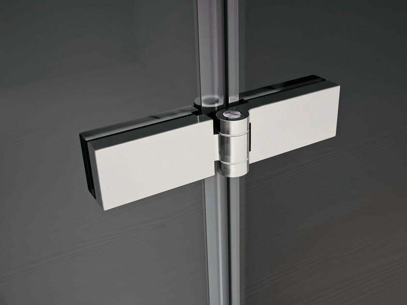 Chrome plated steel Cabinet Hinge SMART | For glass doors Cabinet Hinge - IdeaGroup