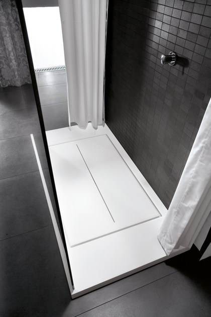 Rectangular Aquatek shower tray WALK-IN | Shower tray - IdeaGroup