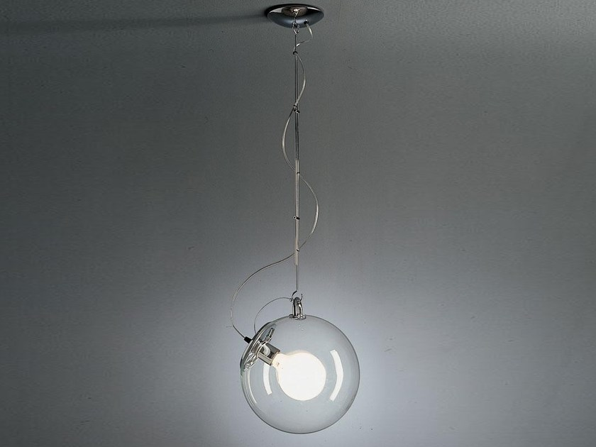 Fluorescent metal pendant lamp MICONOS   Pendant lamp - Artemide Italia