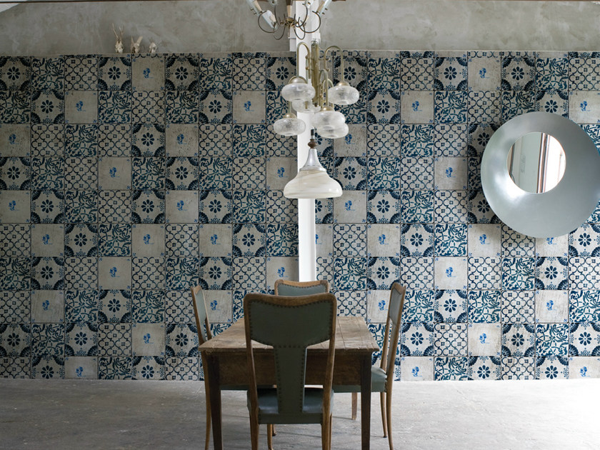 Check wallpaper AZUL - Wall&decò