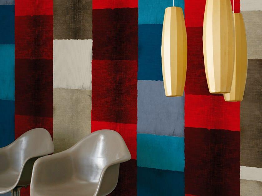 Striped wallpaper PATCHWORKING - Wall&decò