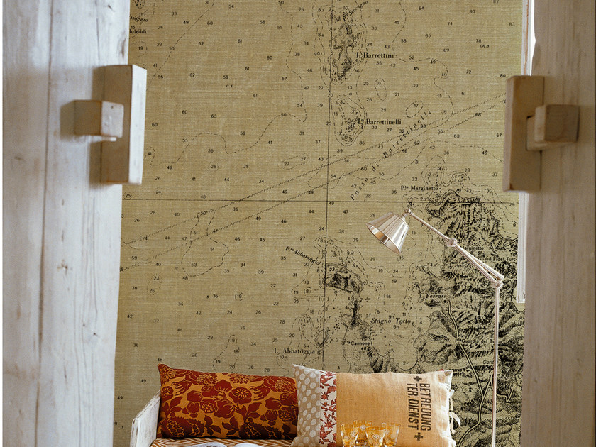 Panoramic writing wallpaper LOSTING MAP by Wall&decò