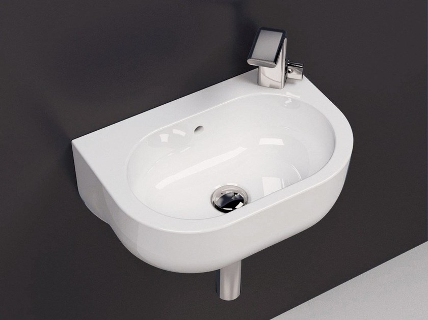 Wall-mounted ceramic handrinse basin PASS | Wall-mounted handrinse basin - CERAMICA FLAMINIA