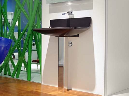 Pedestal ceramic washbasin PLATE | Pedestal washbasin - CERAMICA FLAMINIA