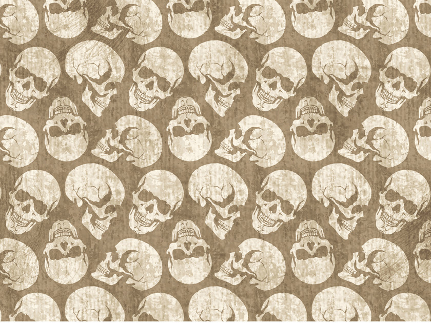 Motif wallpaper SKULLS by Wall&decò