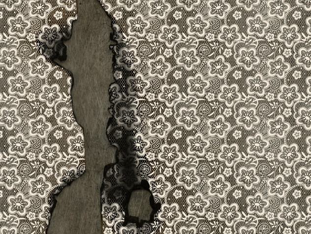 Wallpaper with floral pattern TIME - Wall&decò
