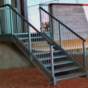 Metal fire escape staircase SMALL by SO.C.E.T.
