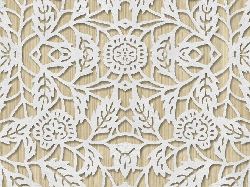 Outdoor wallpaper with floral pattern MACRAME' by Wall&decò