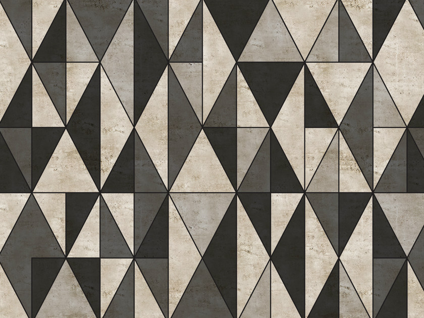 Geometric outdoor wallpaper DIECUT by Wall&decò
