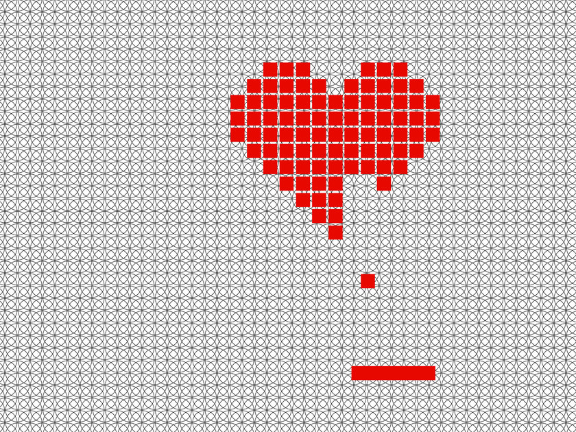 Optical outdoor wallpaper HEART GAME - Wall&decò