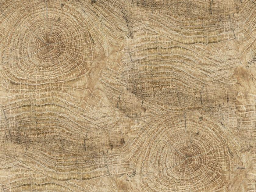 Wood effect bathroom wallpaper LIFE LINES - Wall&decò