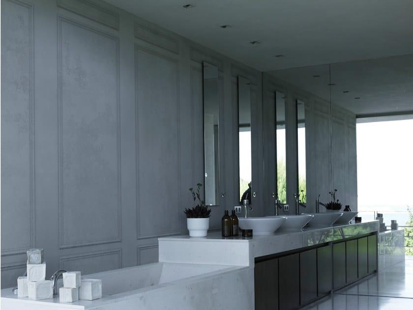Wood effect trompe l'oeil bathroom wallpaper LE GRAND PALAIS - Wall&decò