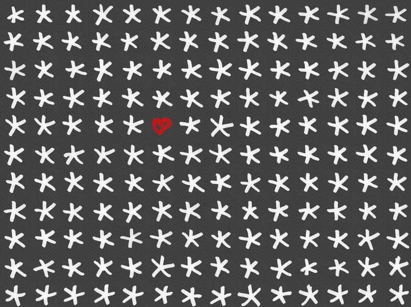 Motif outdoor wallpaper STARS & HEARTS - Wall&decò