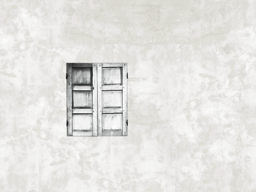 Wall effect trompe l'oeil bathroom wallpaper NEAR THE WINDOW - Wall&decò