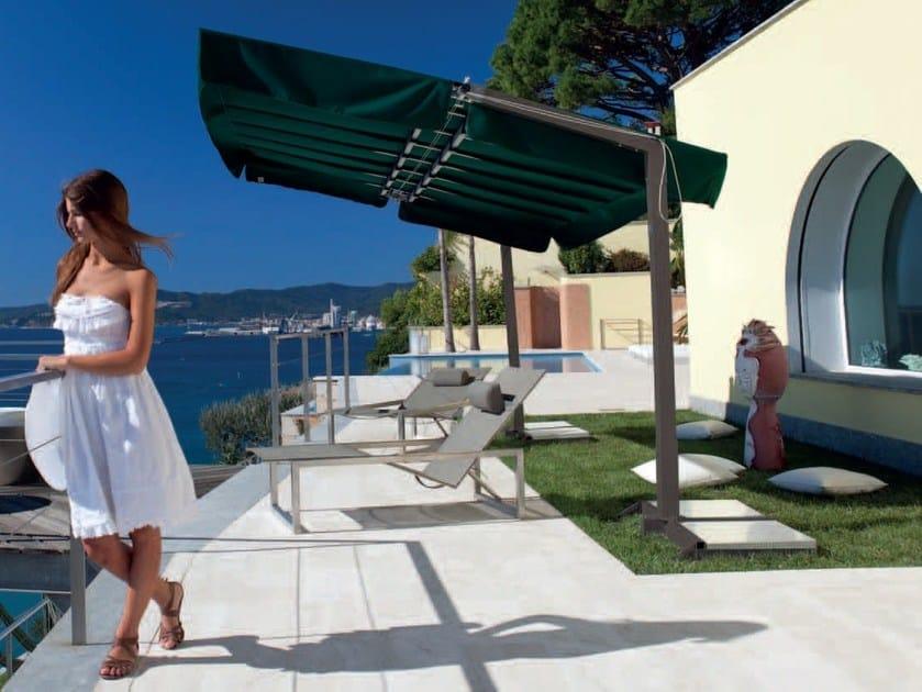 Adjustable aluminium garden umbrella california graphite by fim - Parasol rectangulaire inclinable castorama ...