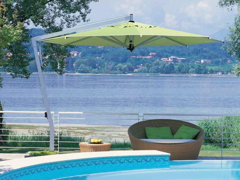 Offset adjustable Garden umbrella CAPRI SILVER - FIM
