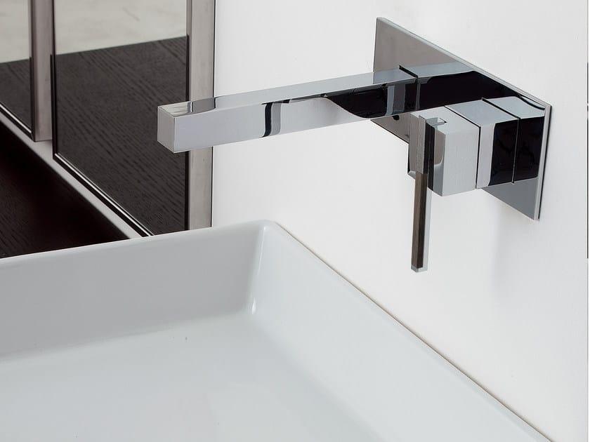 Wall-mounted single handle washbasin mixer SOQQUADRO | Wall-mounted washbasin mixer - ZAZZERI