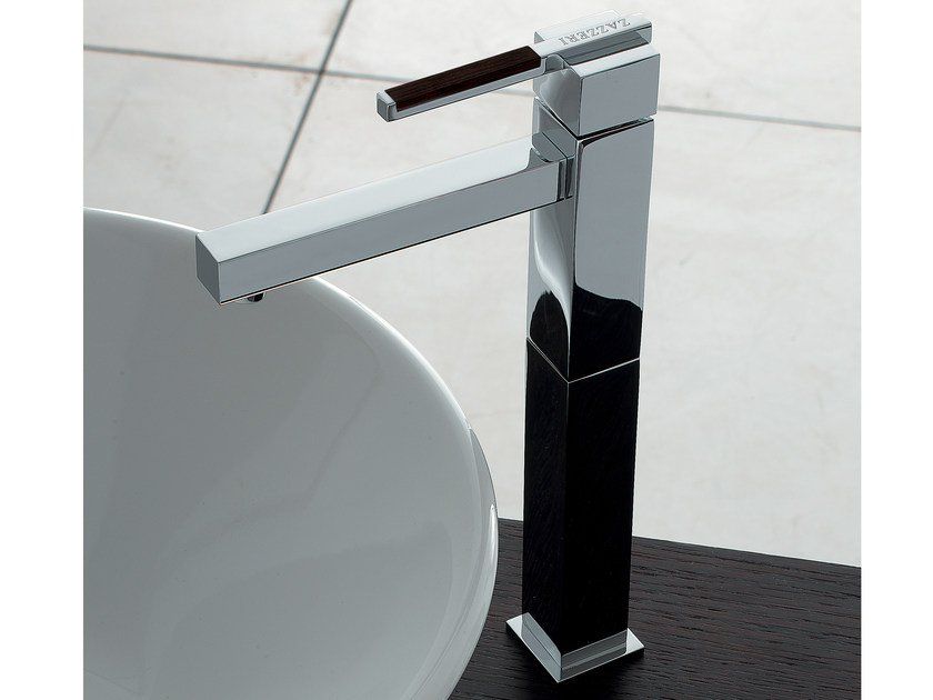 Countertop single handle washbasin mixer SOQQUADRO | Countertop washbasin mixer by ZAZZERI