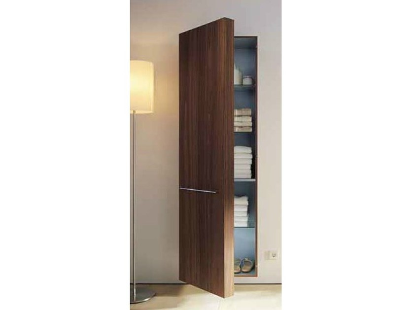 Tall suspended bathroom cabinet with doors FOGO | Suspended bathroom cabinet - DURAVIT
