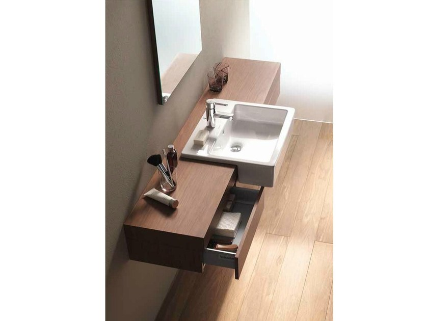 Wall-mounted vanity unit with drawers FOGO | Vanity unit with drawers - DURAVIT