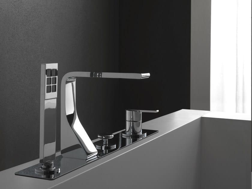 4 hole bathtub set with hand shower REM | 4 hole bathtub set by ZAZZERI