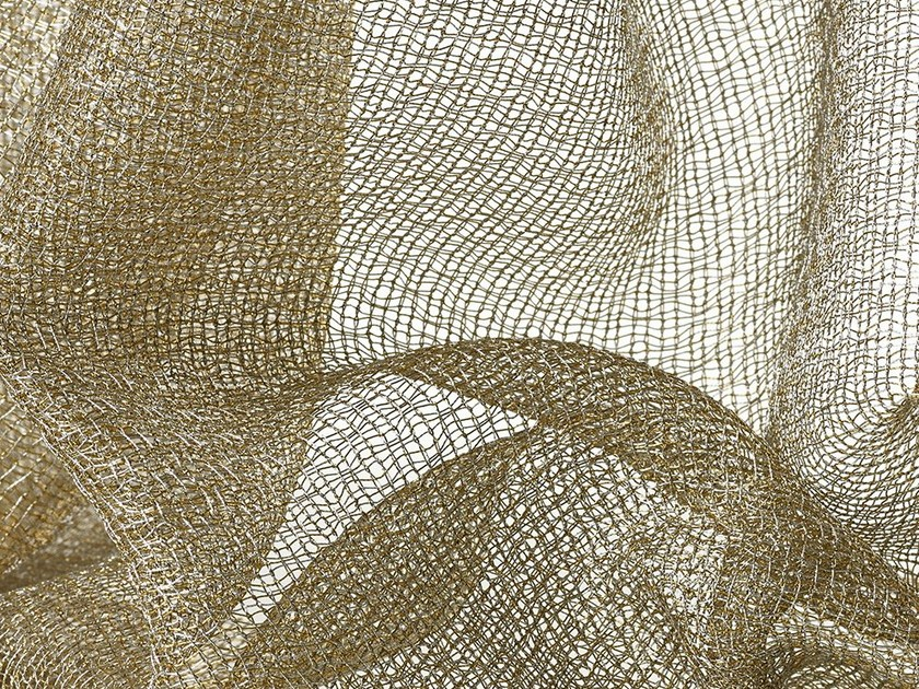 Solid-color sheer fabric for curtains LUX - Dedar