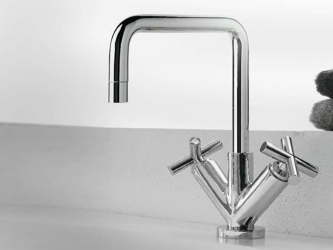1 hole washbasin tap with individual rosettes DA-DA | Washbasin tap - ZAZZERI