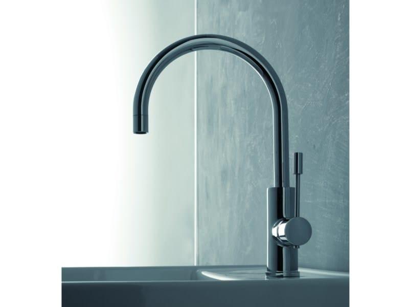 Countertop single handle 1 hole washbasin mixer MODO | Countertop washbasin mixer - ZAZZERI