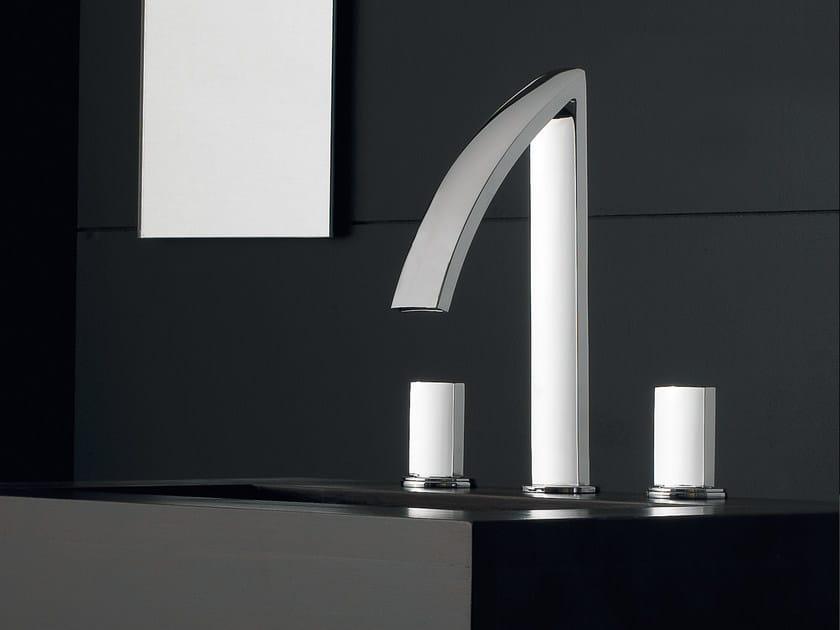 3 hole countertop washbasin tap MOON | 3 hole washbasin tap - ZAZZERI