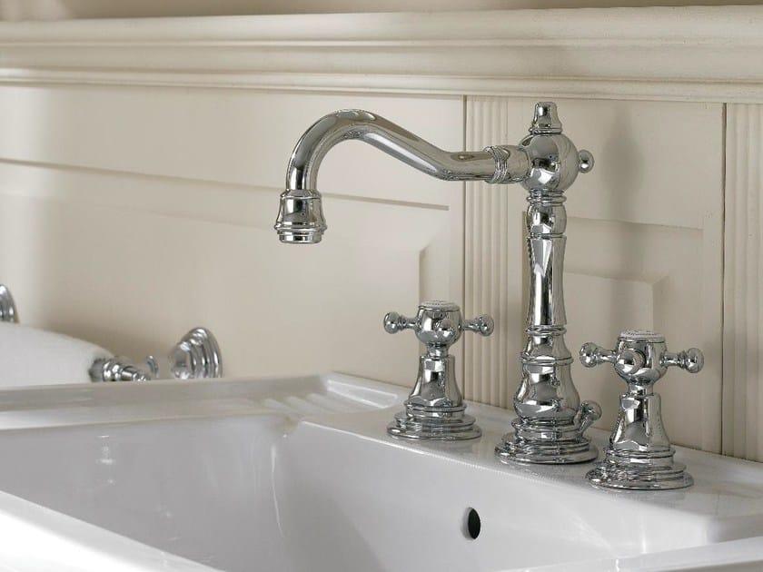 Rubinetto per lavabo in stile classico kent rubinetto per lavabo a 3 fori zazzeri - Rubinetti lavabo bagno ...
