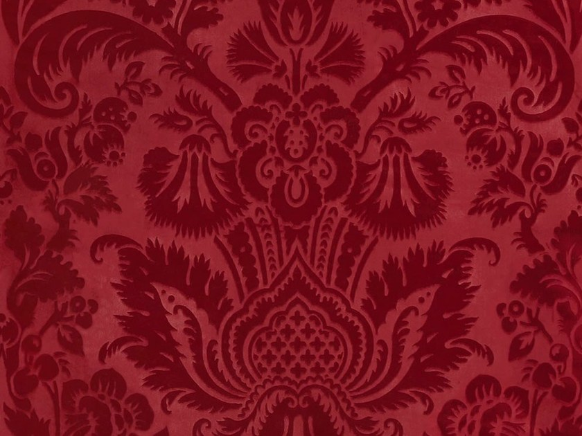 Fabric upholstery fabric with floral pattern for curtains EDEN by Dedar