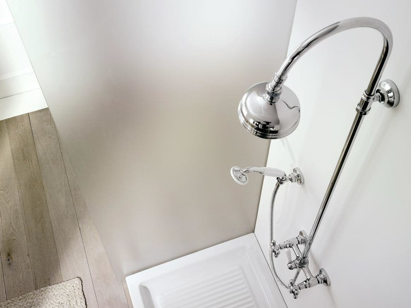 Wall-mounted shower panel with hand shower 800 | Shower panel by ZAZZERI