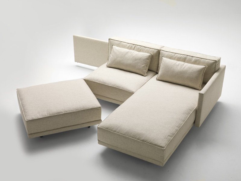 Sofa bed with chaise longue DENNIS - Milano Bedding