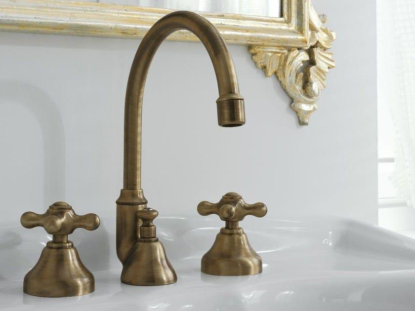 Classic style 3 hole washbasin tap 800 | 3 hole washbasin tap - ZAZZERI