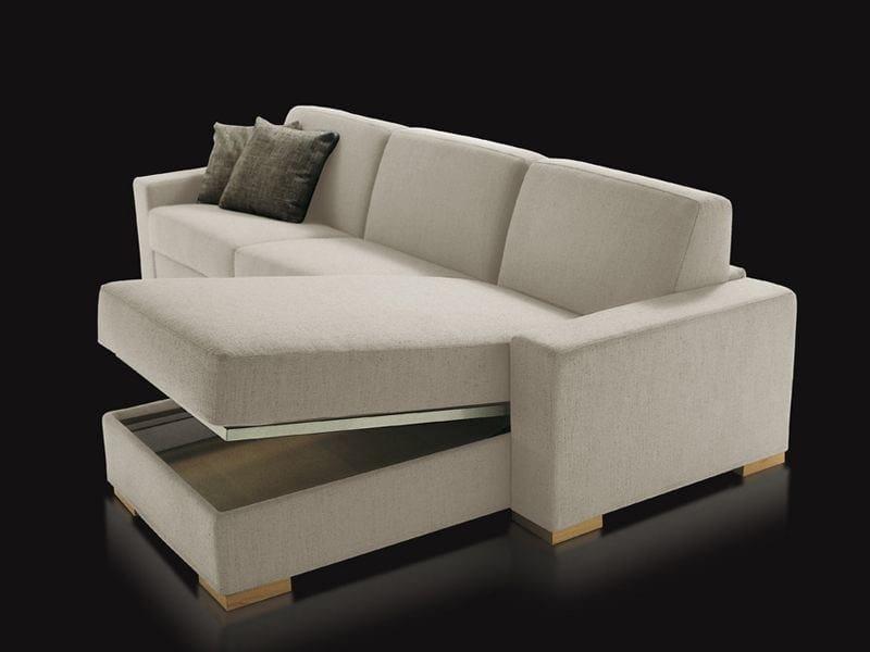 Divano letto con chaise longue duke divano con chaise for Chaise longue divano