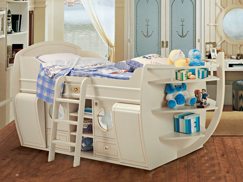 "Wooden storage bed 518 | ""del Capitano"" Bed - Caroti"