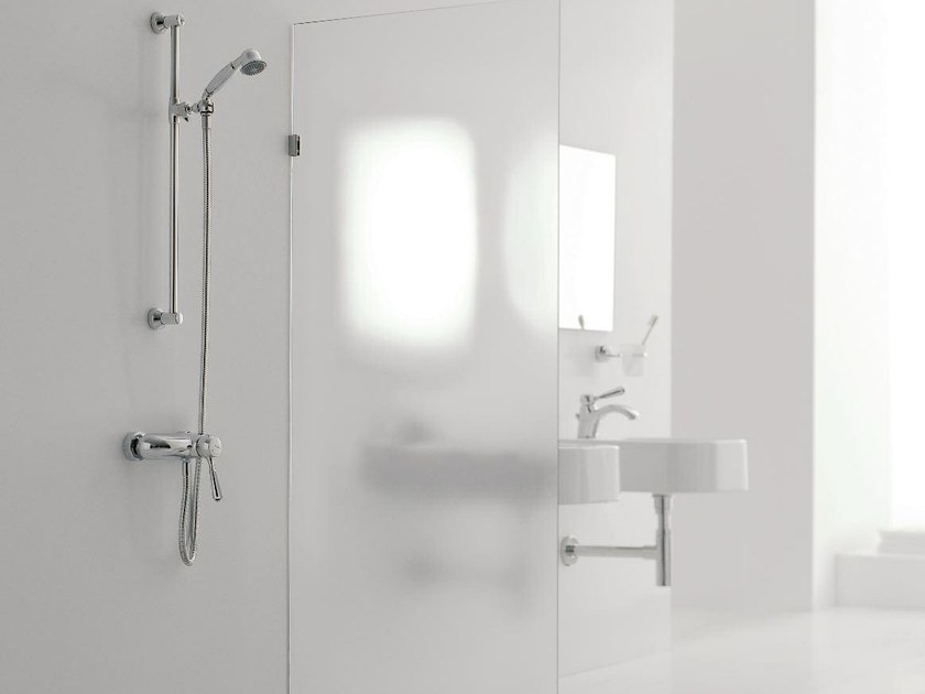 Shower wallbar with hand shower with mixer tap 900 | Shower wallbar by ZAZZERI