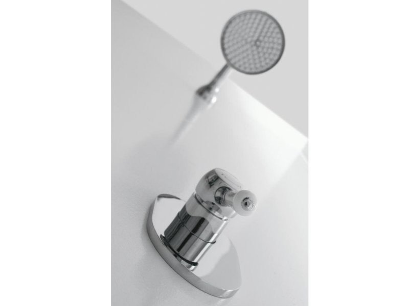 Single handle 1 hole shower mixer with overhead shower 900 | Shower mixer - ZAZZERI