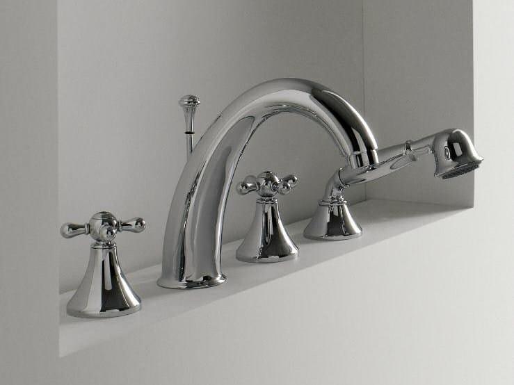 4 hole bathtub set with hand shower MILLE | 4 hole bathtub set - ZAZZERI