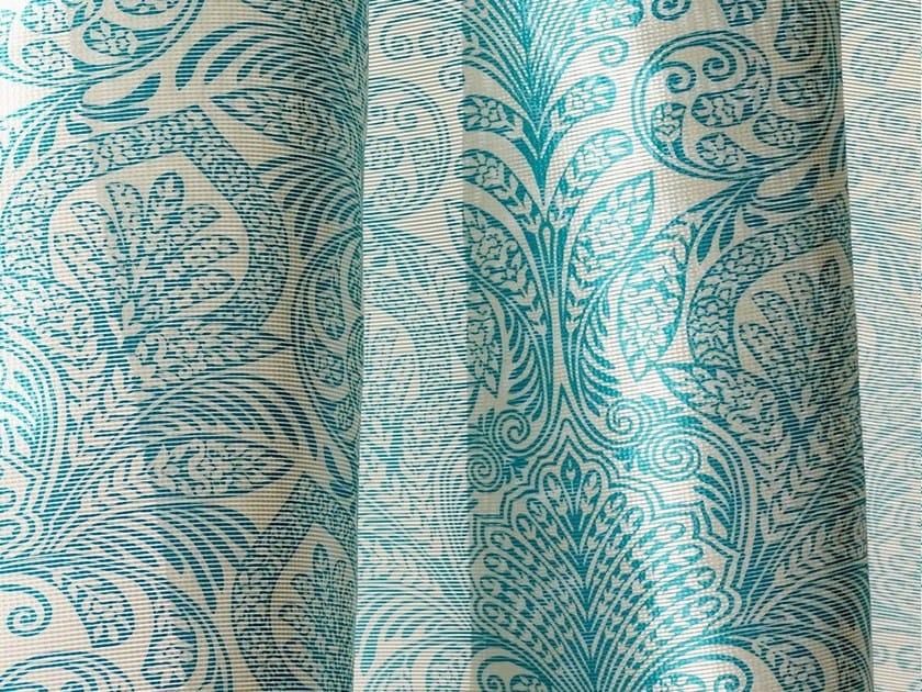 Sheer Trevira® CS fabric with floral pattern FOLIES by Dedar