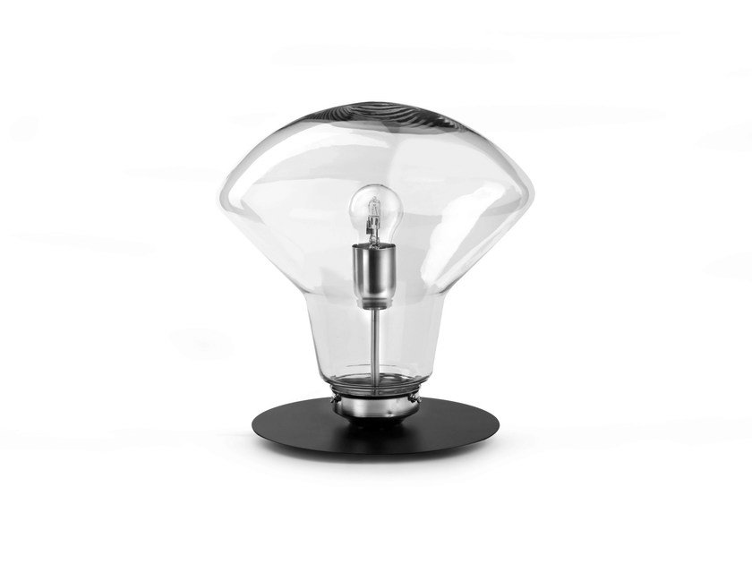 LED direct-indirect light glass table lamp GL351 - Hind Rabii