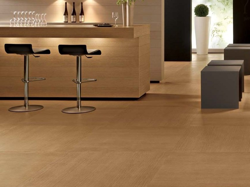 Laminated stoneware wall/floor tiles with wood effect OAKS by COTTO D'ESTE