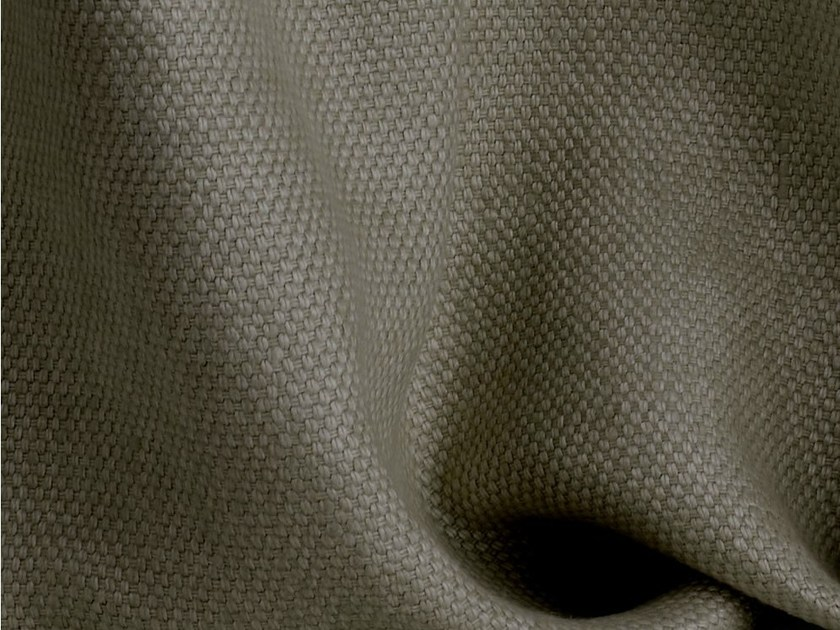 Solid-color linen fabric for curtains KOS by Dedar