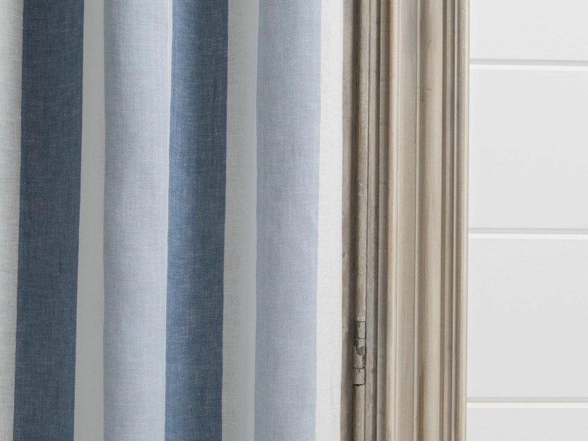 Tessuto a righe lavabile in lino per tende zephyr dedar for Tende a righe verticali