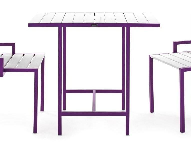 Tavolo da giardino quadrato in acciaio e legno too gether for Corradi arredi