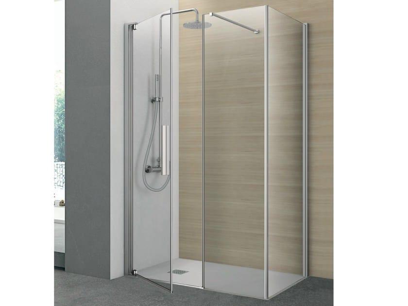 Crystal shower cabin with pivot door PIVOT | Rectangular shower cabin - HAFRO