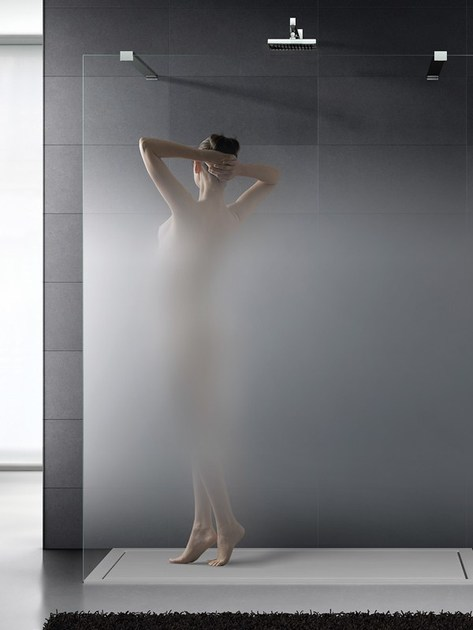 Vetro satinato progressivo per pareti doccia MADRAS ...