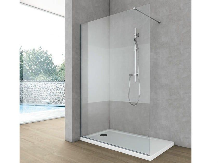 Parete per doccia angolare in cristallo SIDE 2 by HAFRO